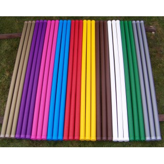 Plastic covered wooden pole 3,5 m