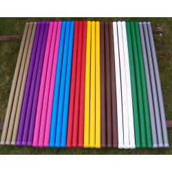 Plastic covered wooden pole 3 m