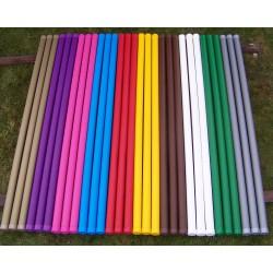 Plastikumhüllte Holzstange 3 m