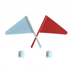 Fanion flags in pair, white and red